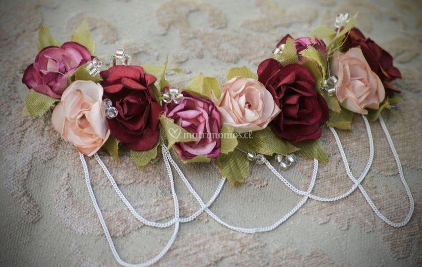 Tocado rosas
