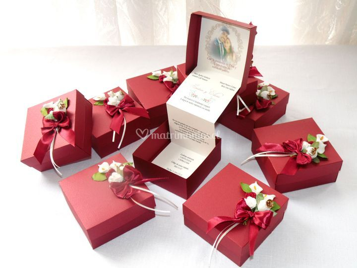 Parte en caja romántico