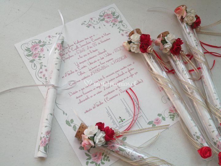 Invitación ensayo romántico