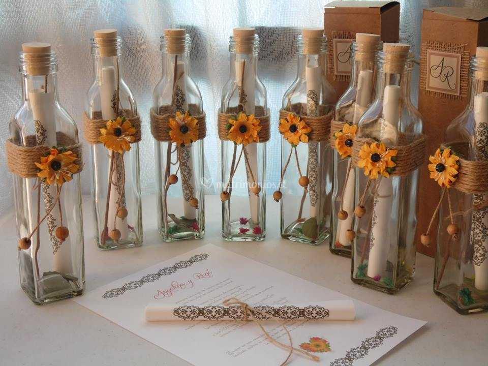 Invitacion Botella Girasol De Invitartes Foto 5 - Invitaciones-de-boda-en-botella