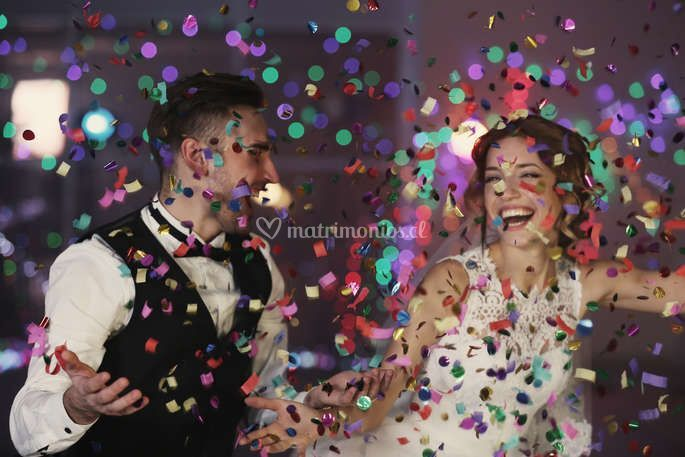 Maquina lanza confetti