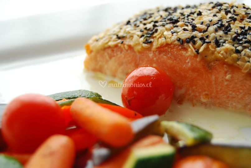 Salmon c/ costra avena y sesam