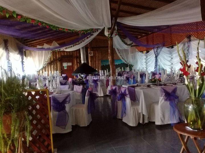 Salon vestido para matrimonio