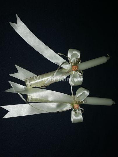 Velas para ceremonia