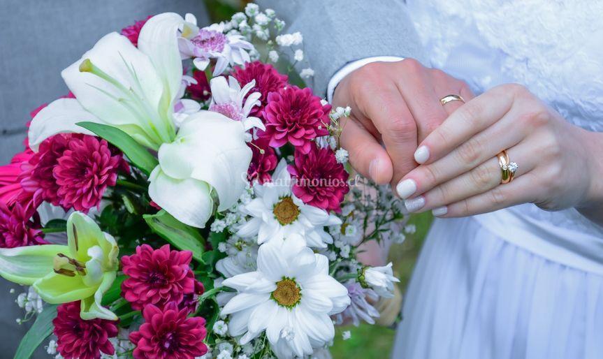 El ramo y anillos
