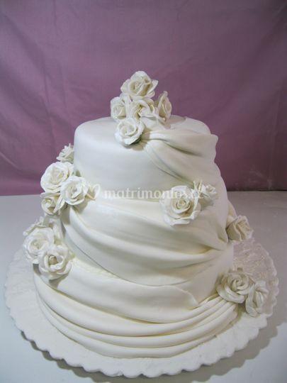 Torta de novios Blanca.