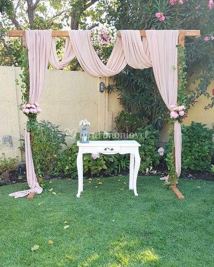 Arco floral rústico