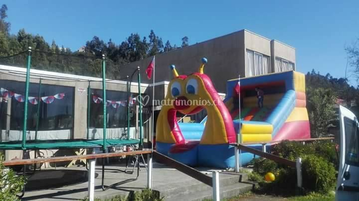 Terraza apta para juegos infla