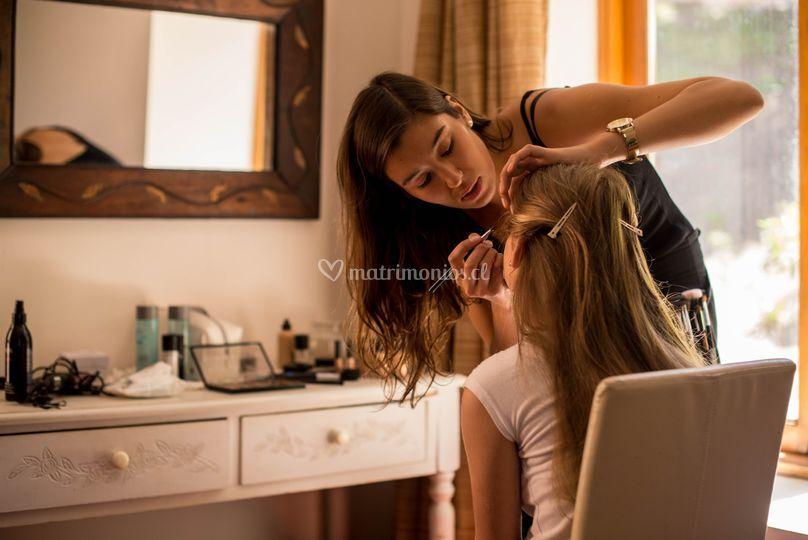 Preparacion hija de la novia