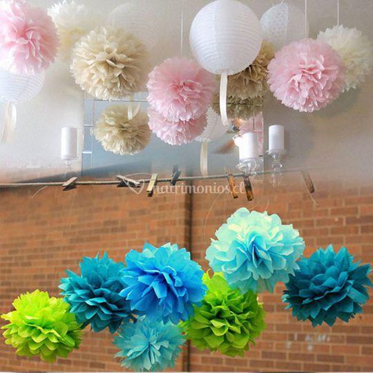 Pompones de boda