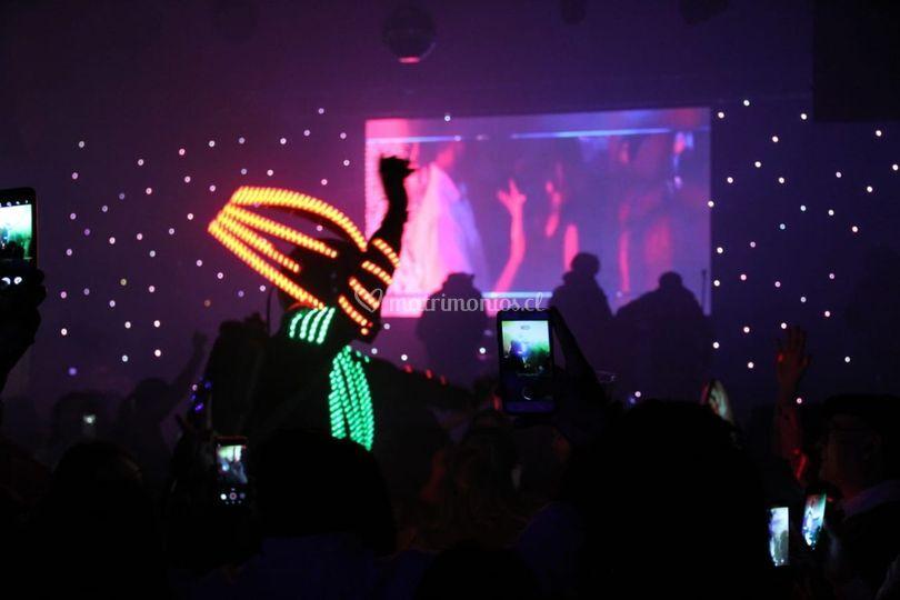 Baila con robot led w