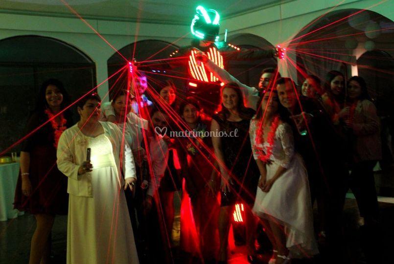 Fotografías con robot led w
