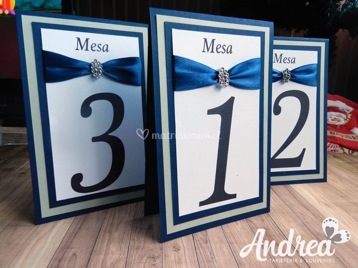 Número de mesas