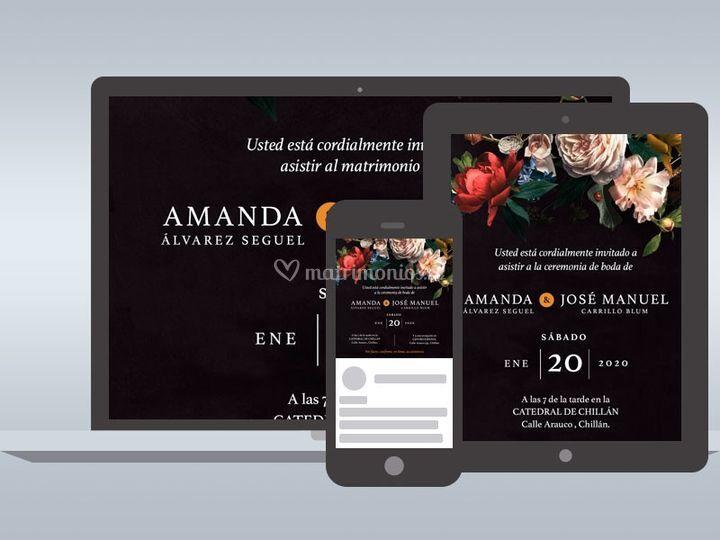 Invitaciones Online - Amanda
