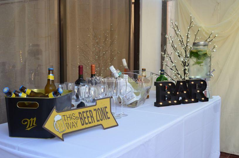 Bar en su fiesta