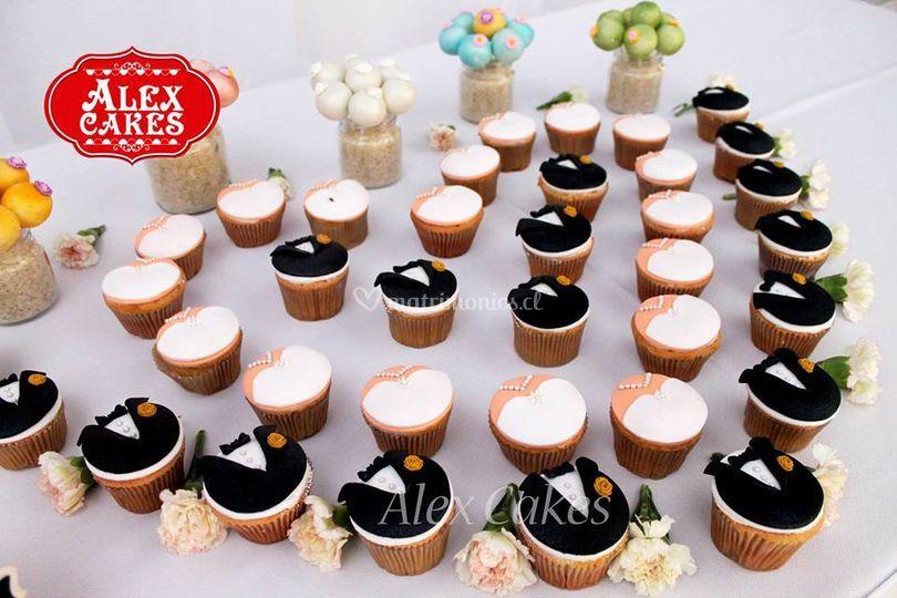Cupcakes novios