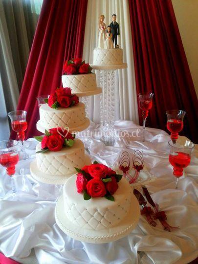 Torta dispersas en pedestales