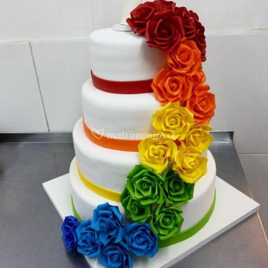 Torta colores flúor