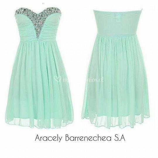 Vestido verde agua Código:001