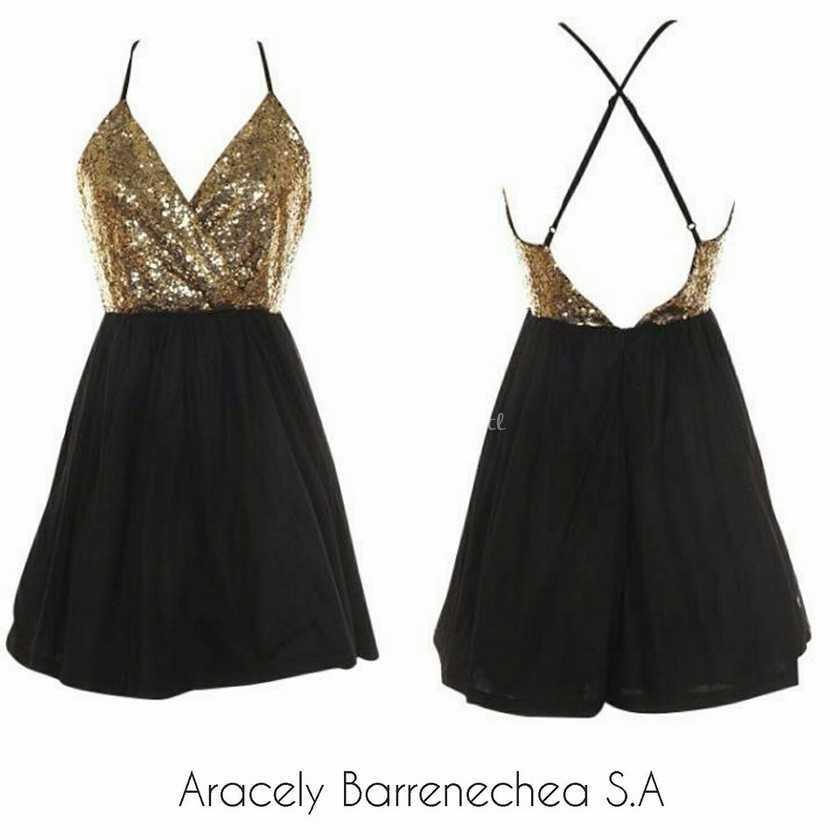Vestido negro o dorado