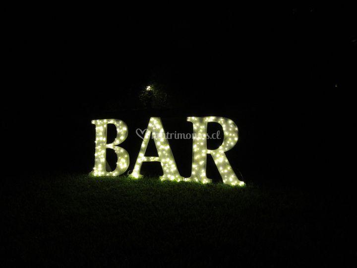 Letras Bar 40x40