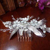 Tocado novia con cristales