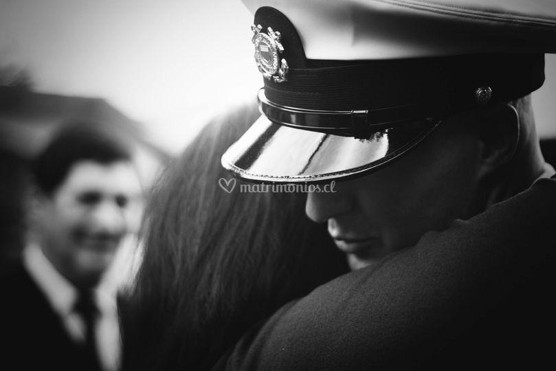 Un marine en su boda chilena