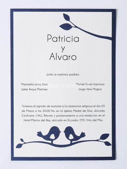Invitación Pajaritos