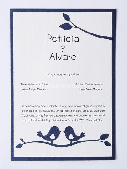 Invitación Pajaritos