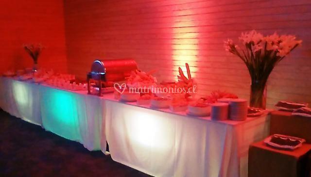 Iluminación buffet