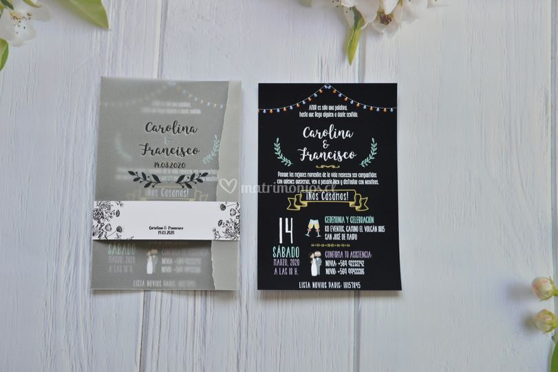 Invitación papel vegetal