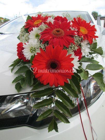 Flores para el auto