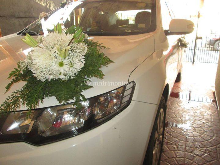 Decoracion auto novia