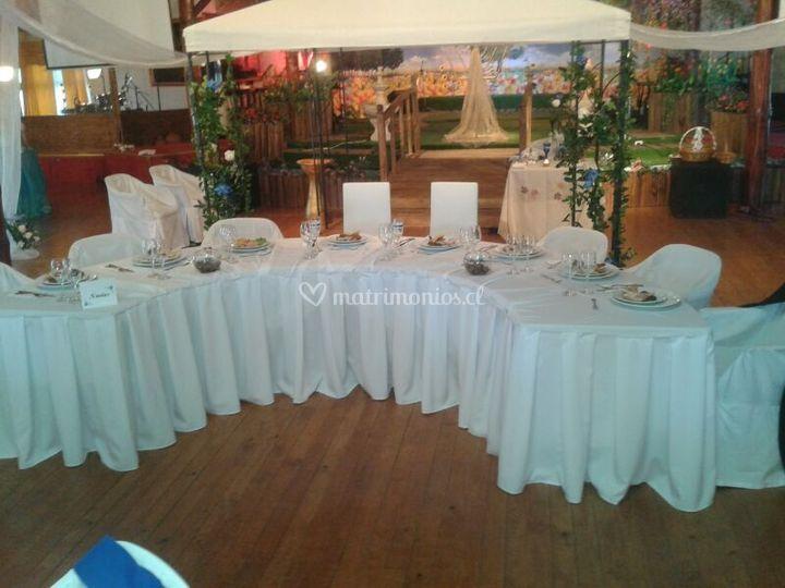 Mesa para novios y padres