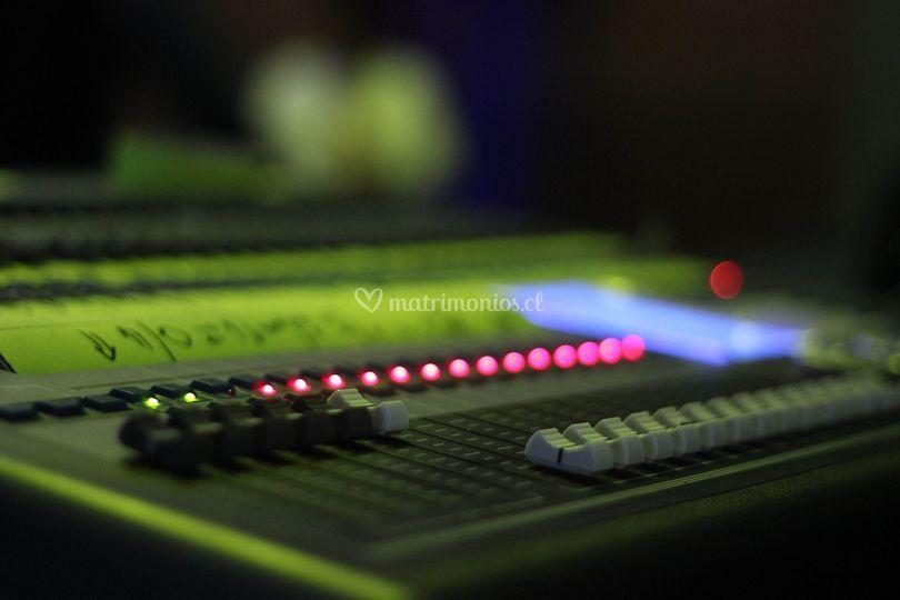 Mesa de iluminación DMX