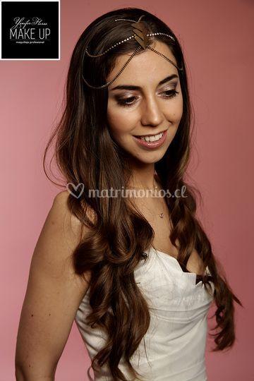Maquillaje sesión fotográfica novia