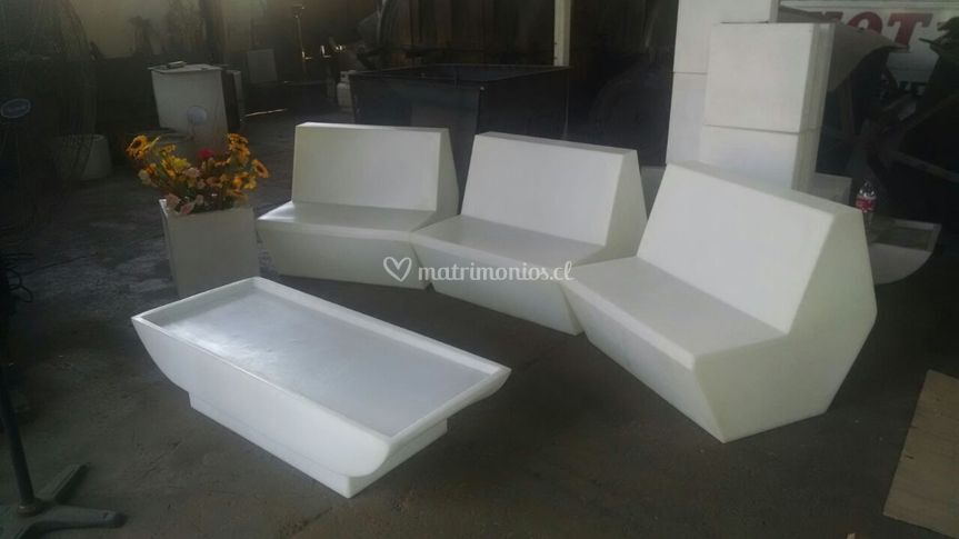 Sillones modulares led