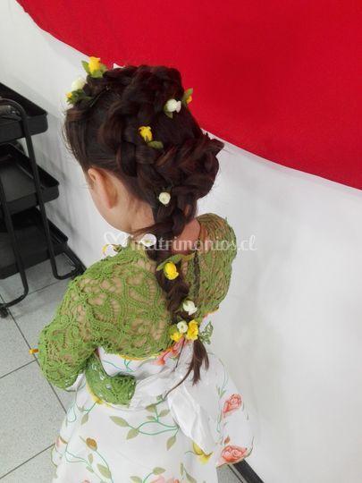 Peinado Fiestas Patrias