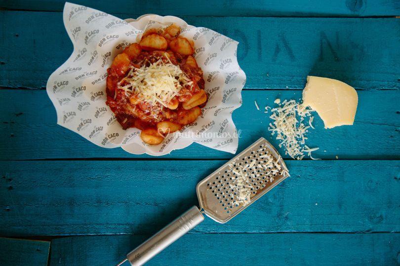 Pastas y platos gourmet