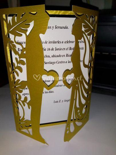 Invitacion bodas de oro