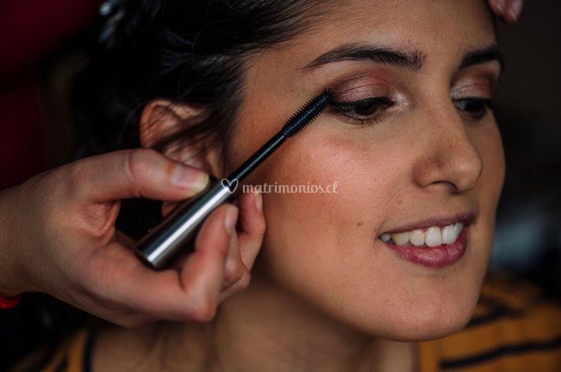 Maquillaje novia en proceso