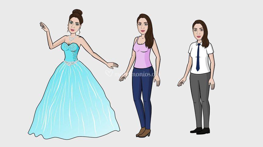 Caracterizaciones novia
