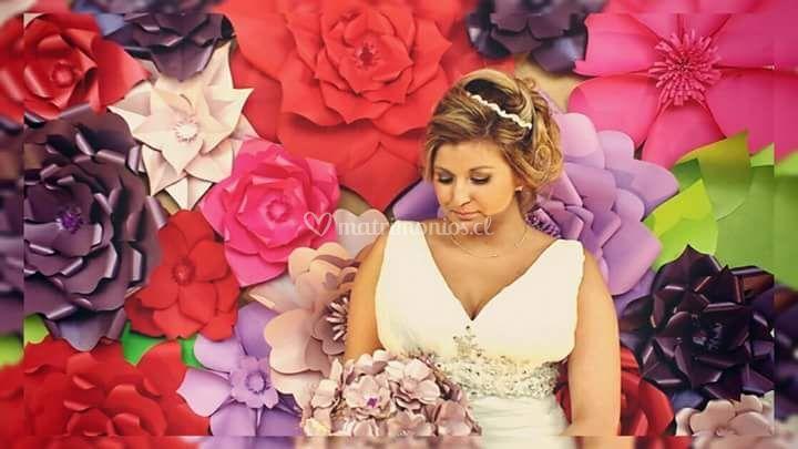 Novia con bouquet momoka