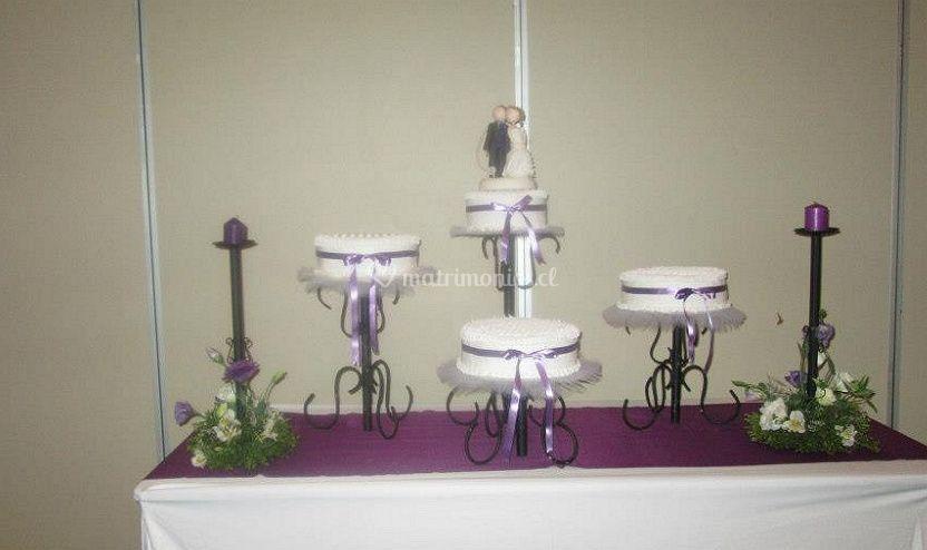 Decoración de la mesa del pastel