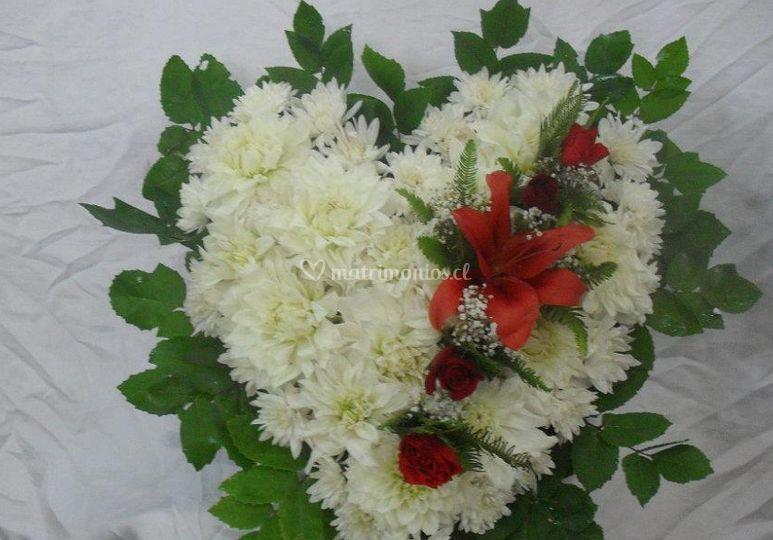 Flores en forma de decoración