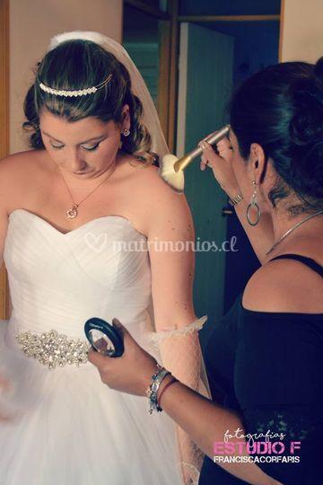 Maquillaje cuerpo novia