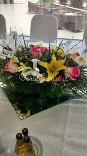 Centros de mesas florales