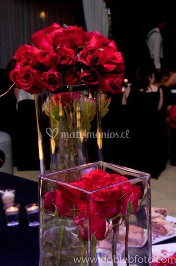 Rosas para las mesas