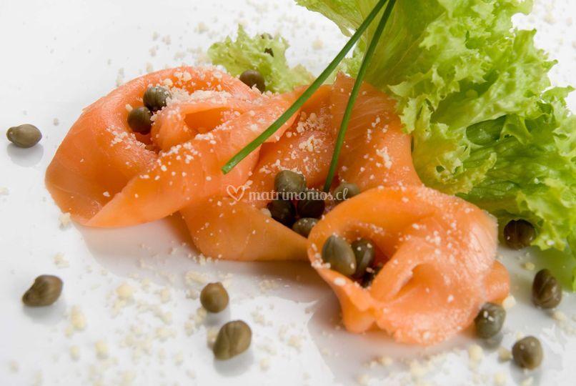 Carpaccio de salmon