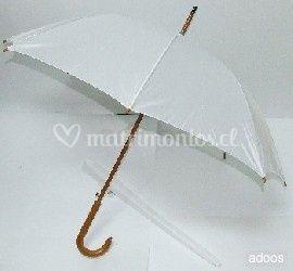 Paraguas blancos para novias